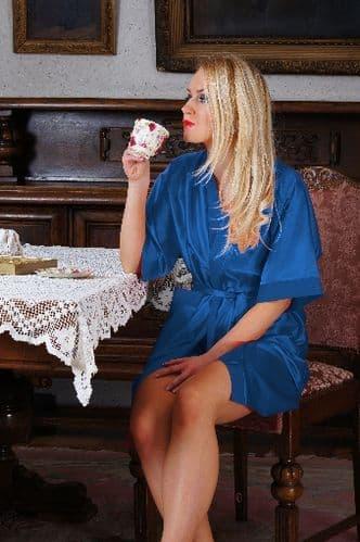 Plus Size Satin Dressin Gown S - 7XL  | Nine X