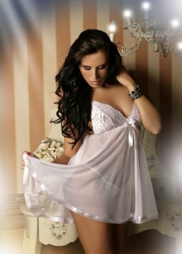 Sheer Babydoll White