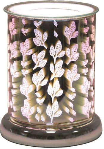 AROMA Cylinder 3D Electric Wax Melt Burner - Leaves