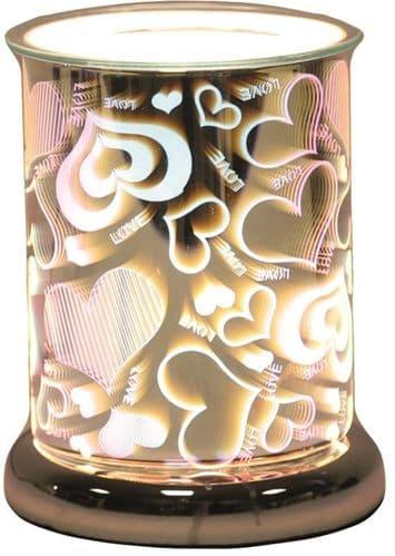 AROMA Cylinder 3D Electric Wax Melt Burner - Love