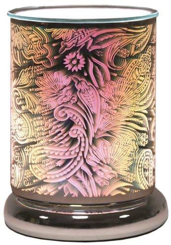 AROMA Cylinder 3D Electric Wax Melt Burner - Paisley
