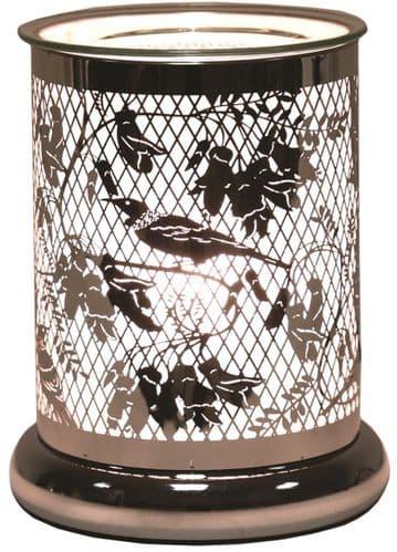 AROMA Cylinder Silhouette Electric Wax Melt Burner - Bird of Paradise