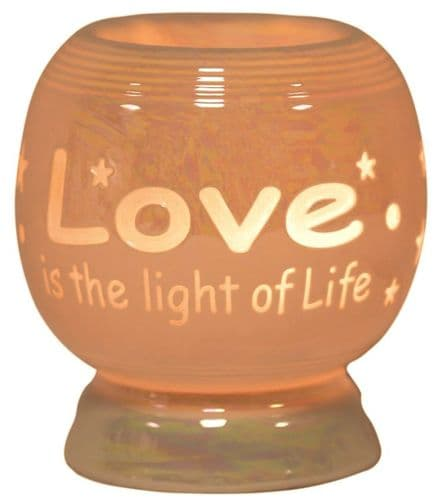 AROMA Electric Wax Melt Burner - Love Is The Light Of Life