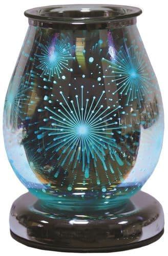 AROMA Oval 3D Colour Changing Electric Wax Melt Burner - Supernova
