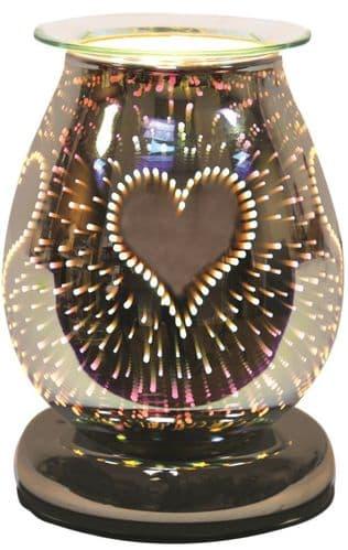 AROMA Oval 3D Electric Wax Melt Burner - Burst Heart