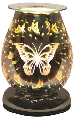 AROMA Oval 3D Electric Wax Melt Burner - Butterfly