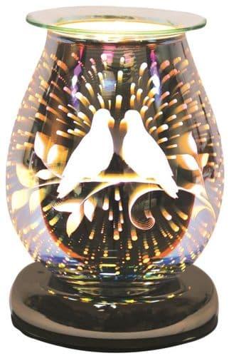 AROMA Oval 3D Electric Wax Melt Burner - Doves