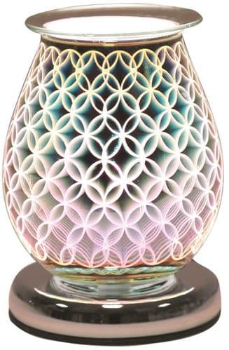 AROMA Oval 3D Electric Wax Melt Burner - Geo Circle