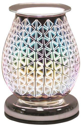 AROMA Oval 3D Electric Wax Melt Burner - Geo Triangle