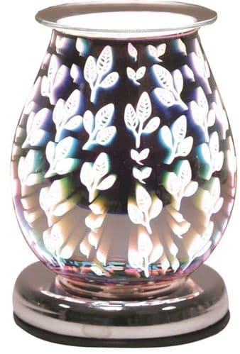 AROMA Oval 3D Electric Wax Melt Burner - Leaves