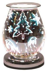 AROMA Oval 3D Electric Wax Melt Burner - Reindeer