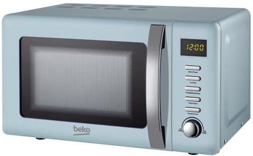 BEKO 800w Digital Control Blue Retro Microwave MOC20200M