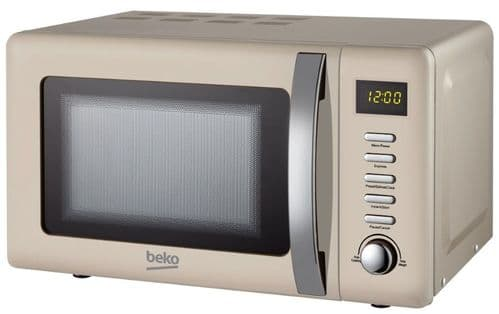 BEKO 800w Digital Control Cream Retro Microwave MOC20200C