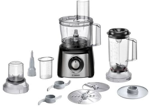 BOSCH Compact 2.3L Food Processor with 11 Accessories MCM3501MGB
