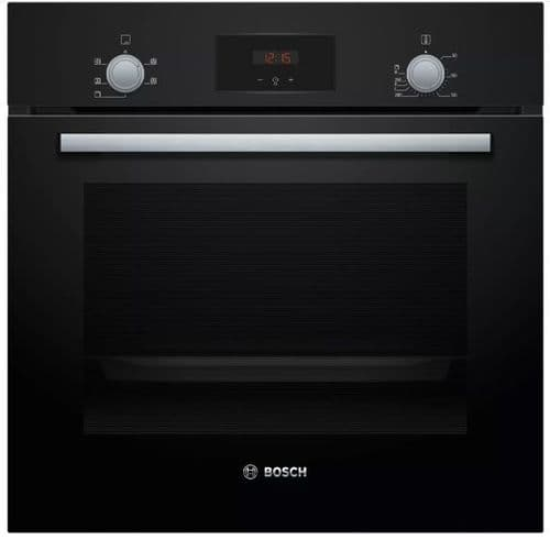 BOSCH Serie 2 Electric Built-In Single Multifunction Oven Black HHF113BA0B