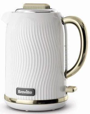 BREVILLE Flow Collection White & Gold Jug Kettle VKT185