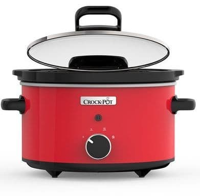 CROCKPOT 3.5L Red Slow Cooker with Hinged Lid CSC037-01