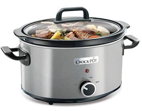 CROCKPOT 3.5L Stainless Steel Slow Cooker CSC025