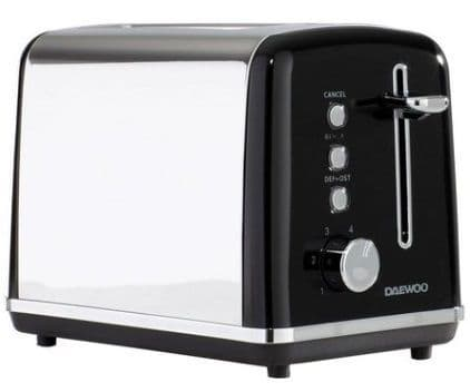 DAEWOO Kensington 2 Slice Toaster Black
