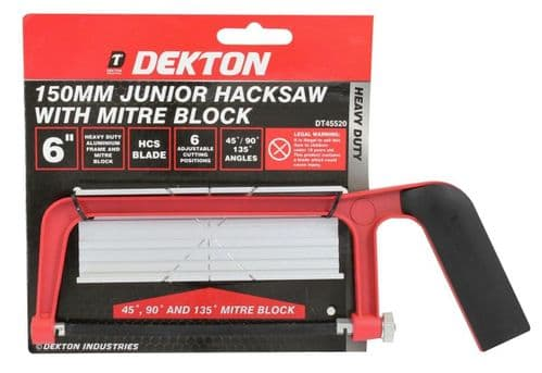 DEKTON 150mm Junior Hacksaw with Mitre Block DT45520