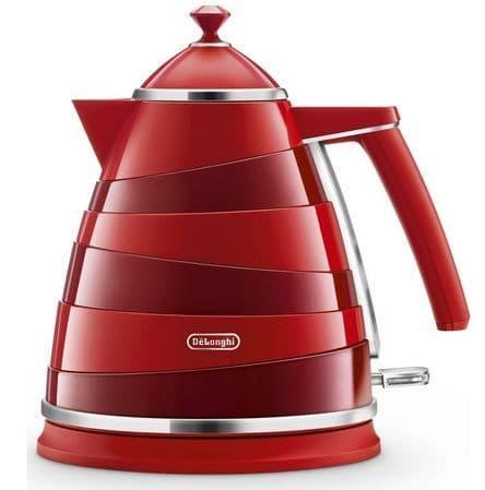 DELONGHI Avvolta 1.7L Jug Kettle Red KBA3001.R