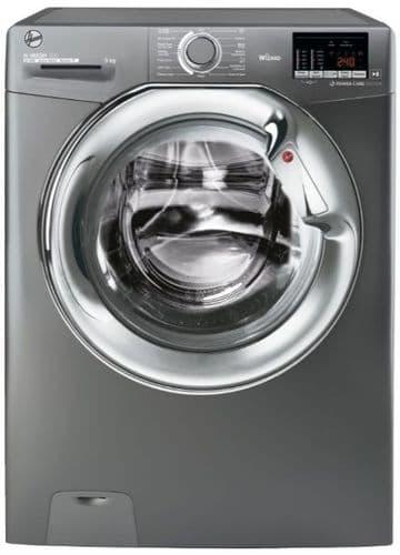HOOVER H-WASH 300 Lite Washing Machine 9kg Load 1400 Spin Graphite H3WS495DACGE/-80