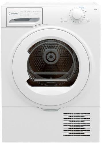INDESIT Condenser Dryer 8kg Load White I2D81WUK