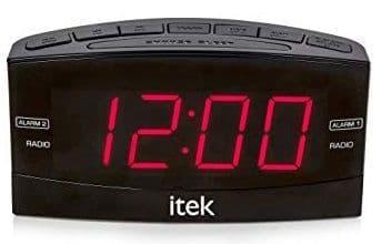 ITEK AM/FM Jumbo LED Alarm Clock Radio I61007