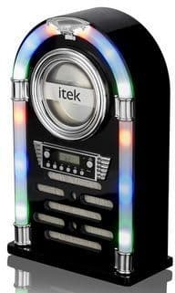 ITEK Bluetooth Jukebox with CD Player and FM Radio Black I60018CDGB