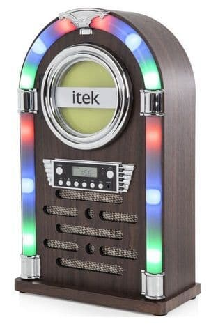 ITEK Bluetooth Jukebox with CD Player and FM Radio I60018CD