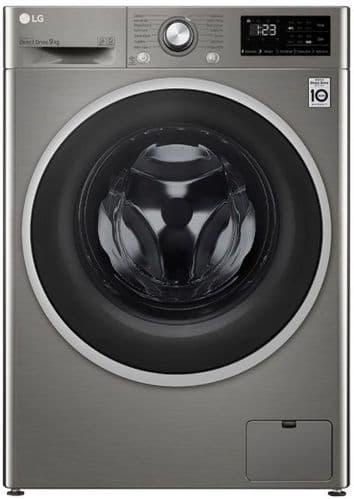 LG AI DD Washing Machine 9kg Load 1400 Spin Graphite FAV309SNE