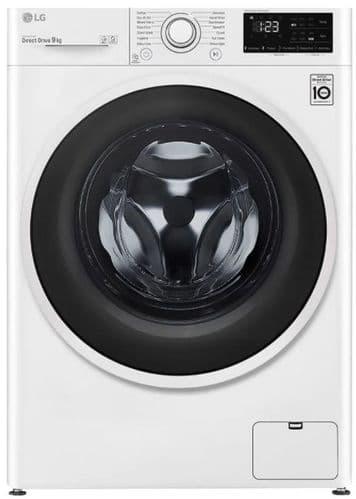 LG AI DD Washing Machine 9kg Load 1400 Spin White FAV309WNE