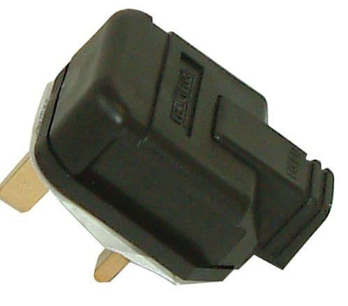 Masterplug Heavy Duty 13A 3-Pin Plug Black