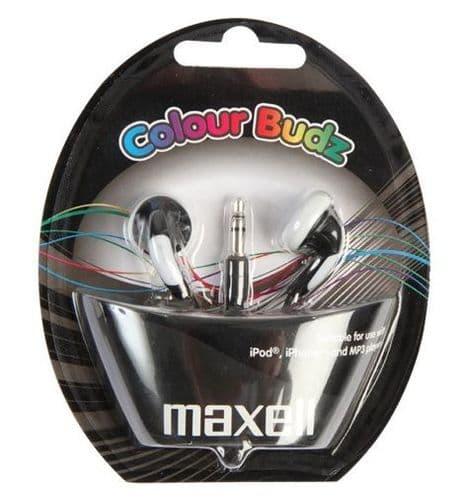 MAXELL Colour Budz Earphones, Black