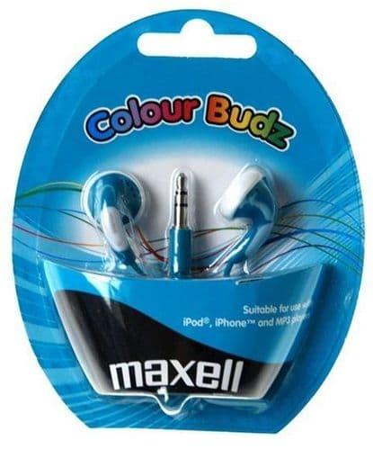 MAXELL Colour Budz Earphones, Blue