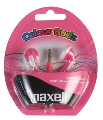 MAXELL Colour Budz Earphones, Pink