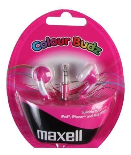 MAXELL Colour Budz Earphones, Purple