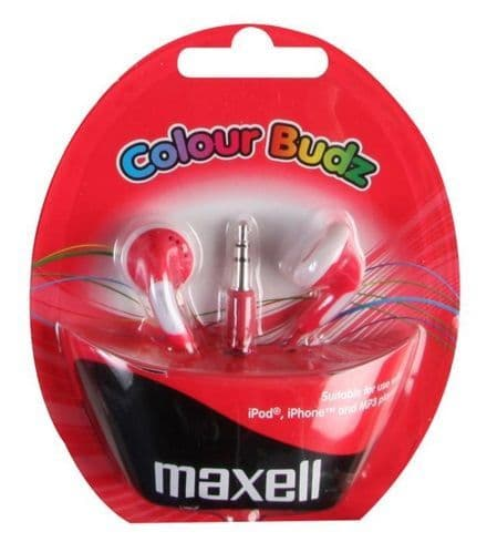 MAXELL Colour Budz Earphones, Red