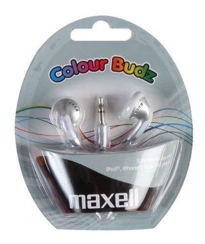 MAXELL Colour Budz Earphones, Silver