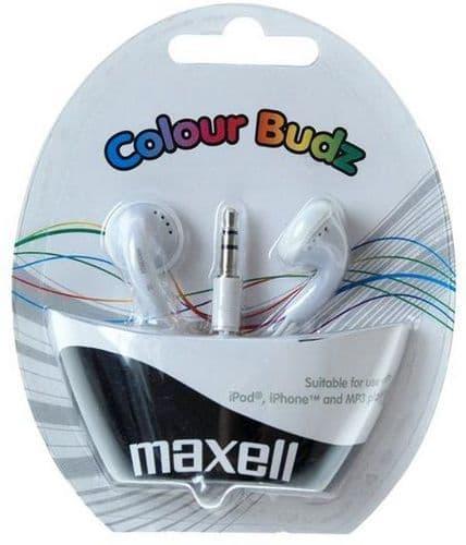 MAXELL Colour Budz Earphones, White