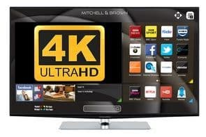 MITCHELL & BROWN 43'' LED 4K Smart Television with Freeview Play JB-431811FSM4K
