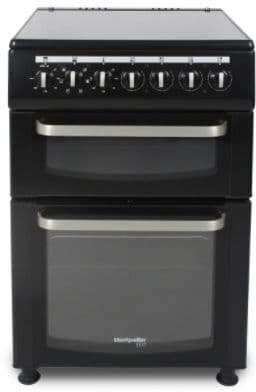 MONTPELLIER Eco 60cm Twin Cavity Electric Cooker with Ceramic Hob Black TCC60BK