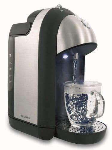 MORPHY RICHARDS Brushed Stainless Steel One Cup Hot Water Dispenser 43922