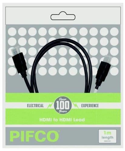 PIFCO HDMI - HDMI Lead Black 1m