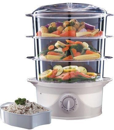 RUSSELL HOBBS 9 Litre 3 Tier Food Steamer White 21140