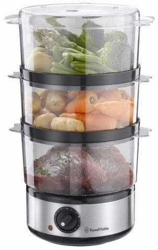 RUSSELL HOBBS Compact 3 Tier Food Steamer 14453
