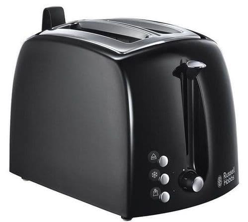 RUSSELL HOBBS Textures Plus 2 Slice Toaster Black 22601