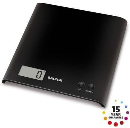 SALTER Arc Digital Kitchen Scales Black 1066BKDR15