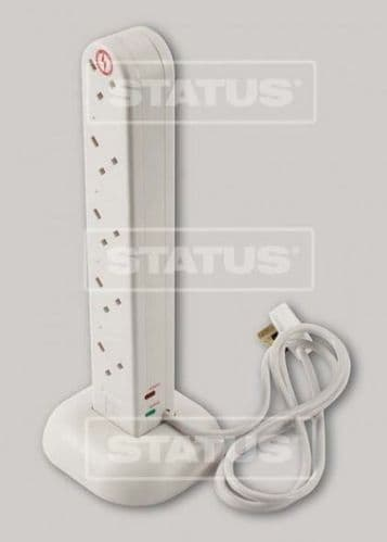 STATUS 10 Gang 2m Tower Extension Surge Protected