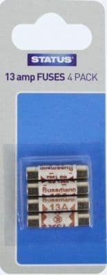 STATUS 13 Amp Fuses Pack of 4